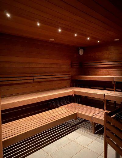 Tip til denne sauna - jo højere op du sætter dig, desto varmere er det.